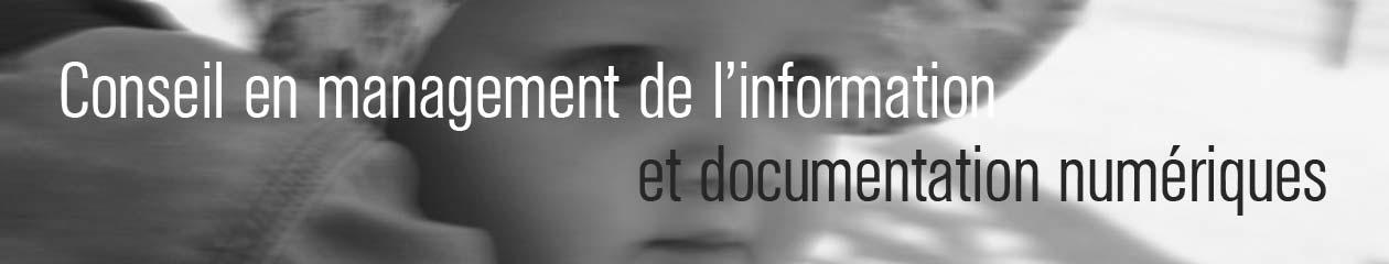 Conseil en management de l'information et documentation numériques